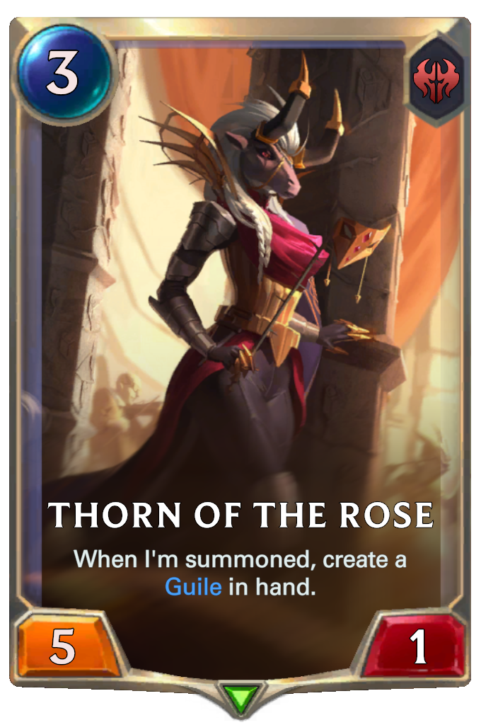 LoR Card: Thorn of the Rose