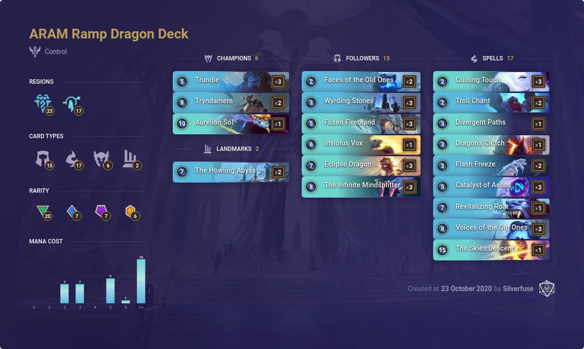 LoR Deck: ARAM Ramp Dragon Deck