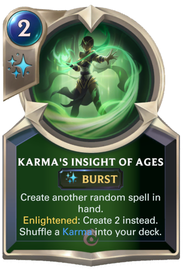 Karma's Insight of Ages