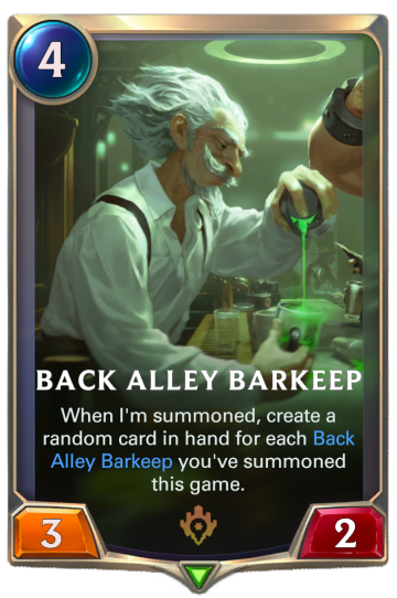 Back Alley Barkeep